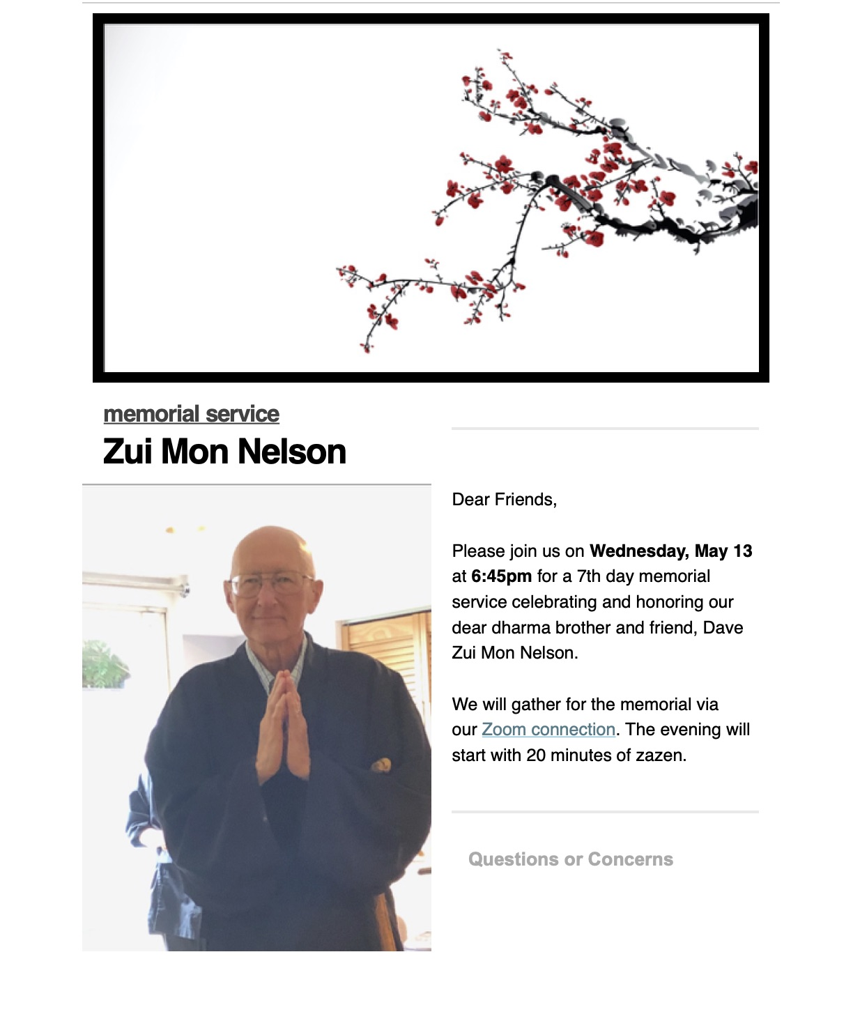 Wednesday Memorial